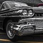 58oldsmobile Super 88 Headlights Poster