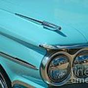 59 Pontiac Catalina Hood Ornament Poster