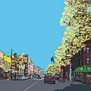 5th Ave And Garfield Park Slope Brooklyn Poster