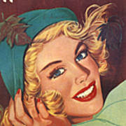 1950s Uk Home Chat Magazine Cover Poster