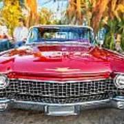 1960 Cadillac Eldorado Biarritz Convertible Painted  Poster