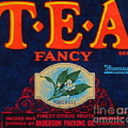 Antique Food Packaging Label. Poster