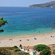Beach In Legrena Poster