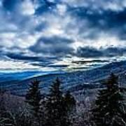 Blue Ridge Parkway Winter Scenes In February Poster