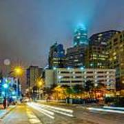 Charlotte City Skyline  Poster