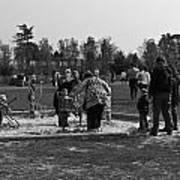 Children Playing Inside The Blair Drummond Safari Park Poster