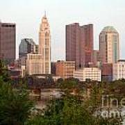 Downtown Skyline Of Columbus Poster