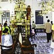 Inside The Historic Jewish Synagogue In Cochin Poster