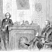 Johnson Impeachment, 1868 Poster