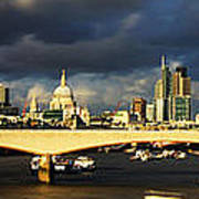 London  Skyline Waterloo  Bridge Poster