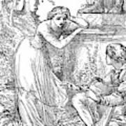 Love Lyrics And Valentine Verses, 1875 Poster