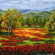 Mediterranean Landscape Poster