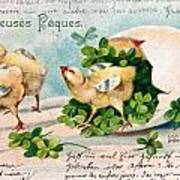 Old French And German Postcards From The Begining Of The 1900 Poster