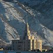 Payson Utah Temple In January 2014 Poster