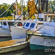 Shrimp Boats Poster