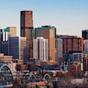 Usa, Colorado, Denver, City View Poster