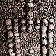 Skulls And Bones In The Catacombs Of Paris France Poster