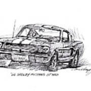 66 Shelby 350 Gt Poster by David Lloyd Glover