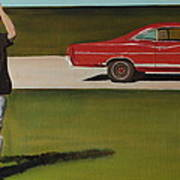 67 Ford Galaxie Poster