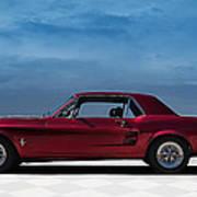 67 Mustang Poster