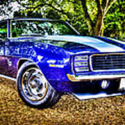 69 Chevrolet Camaro - Hdr Poster by motography aka Phil Clark