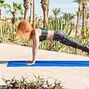 Woman Doing Yoga Poster