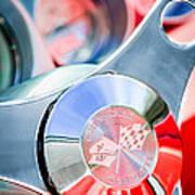 1960 Chevrolet Corvette Steering Wheel Emblem Poster