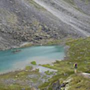 Backpacking In Alaska Talkeetna Poster