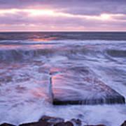 Ballyconnigar Strand At Dawn Poster