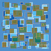 Blue Abstract Poster by Frank Tschakert