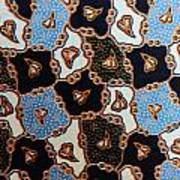 Colorful Batik Cloth Fabric Background  Poster