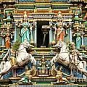 Hindu Temple With Indian Gods Kuala Lumpur Malaysia Poster