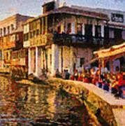 Little Venice In Mykonos Island Poster