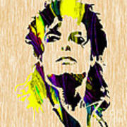Michael Jackson Painting Poster