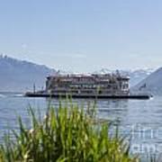 Passenger Ship On An Alpine Lake Poster