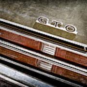 1969 Pontiac Gto Taillight Emblem -0475a Poster