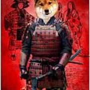 Shiba Inu Art Canvas Print Poster