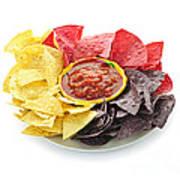 Tortilla Chips And Salsa Poster