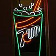 7 Up Sign Poster