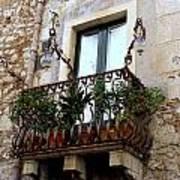 Views Of Taormina Sicily Poster