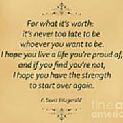 74- F. Scott Fitzgerald Poster