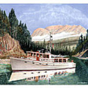 75 Foot Classic Bridgrdeck Yacht Poster by Jack Pumphrey