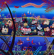 75th Anniversary Of Palm Beach, Florida Oil On Canvas Poster