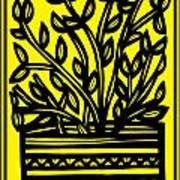 Heidecker Plant Leaves Yellow Black Poster