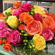 #790 D300 Roses Super Bright Poster