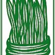 Hassenplug Plant Leaves Green White Poster