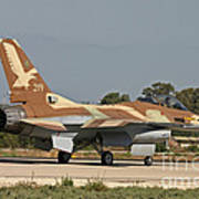 An F-16a Netz Of The Israeli Air Force Poster