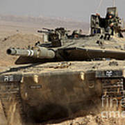 An Israel Defense Force Merkava Mark Iv Poster