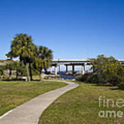 Melbourne Causeway To Indialantic In Central Florida From Geiger Poster