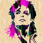 Michael Jackson Painting Poster